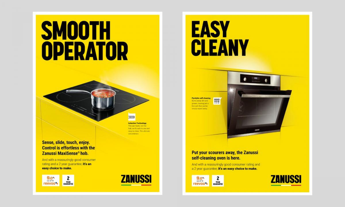 Two print ad examples