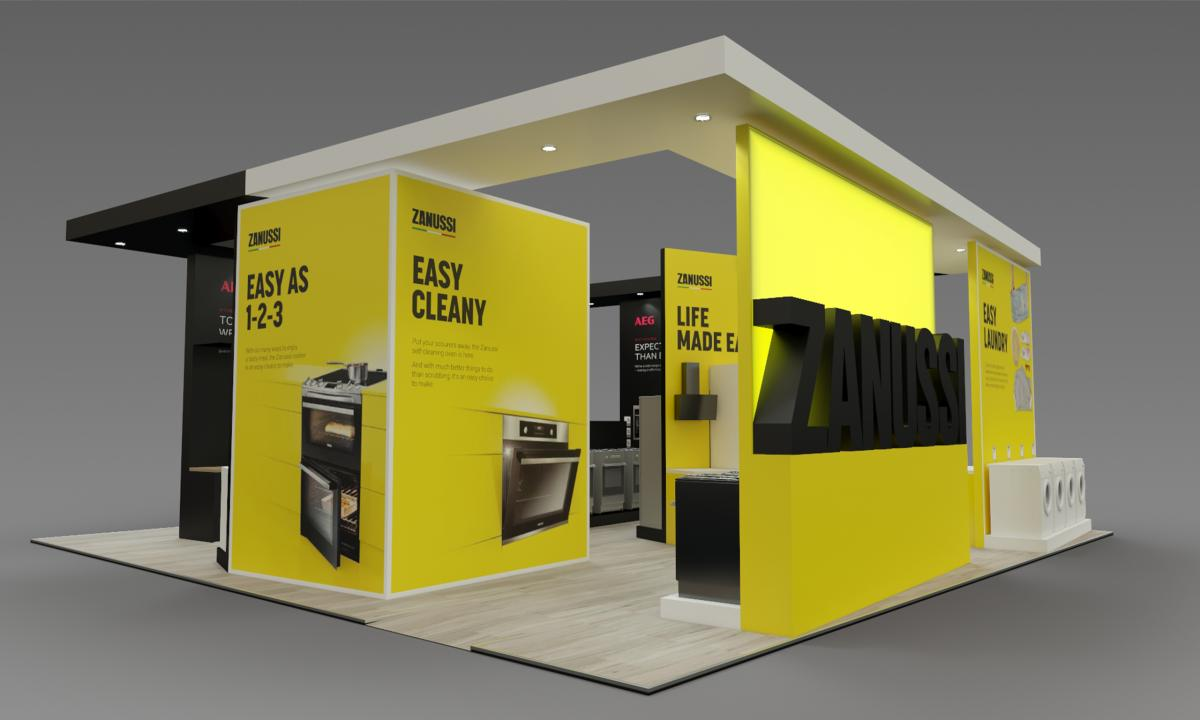 Trade stand in 3D
