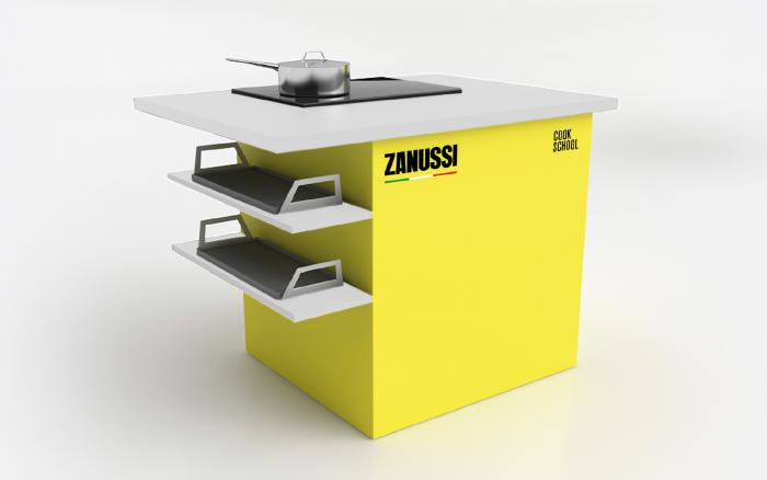 Kitchen island co-branding example