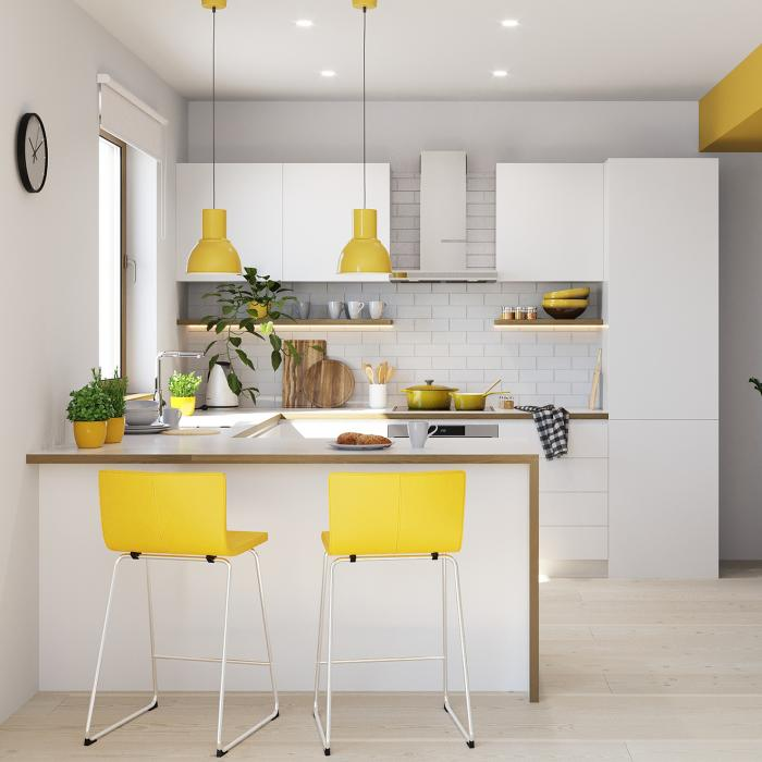 Accent yellow room example