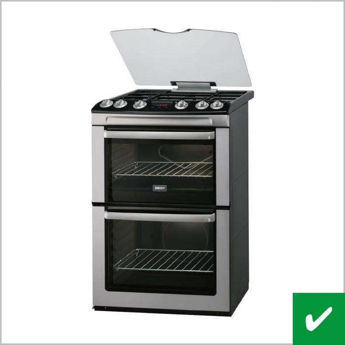 Correct cooker on white background