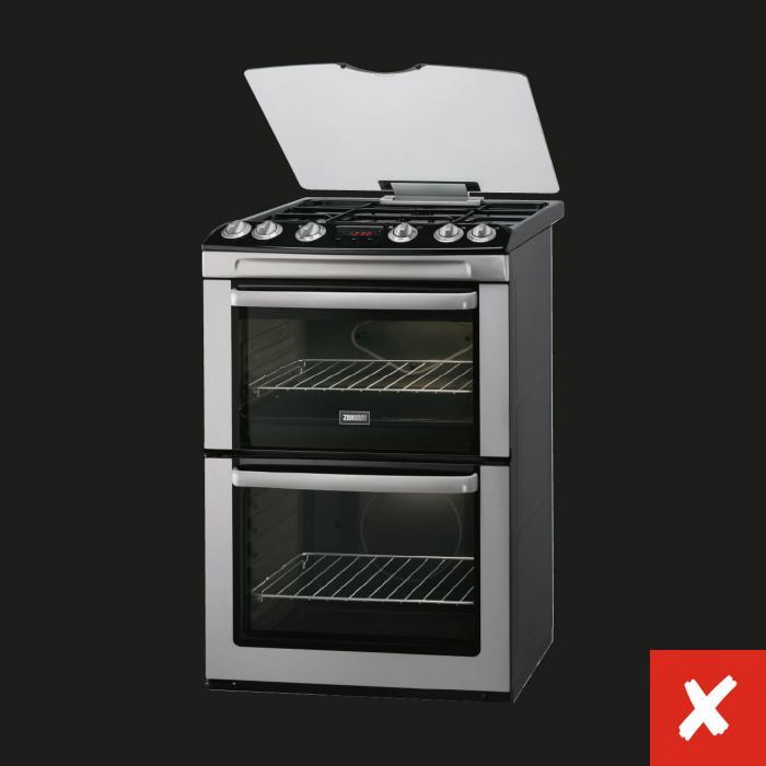 Incorrect product on black background