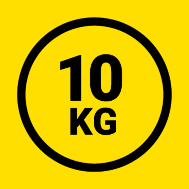 10kg weight icon