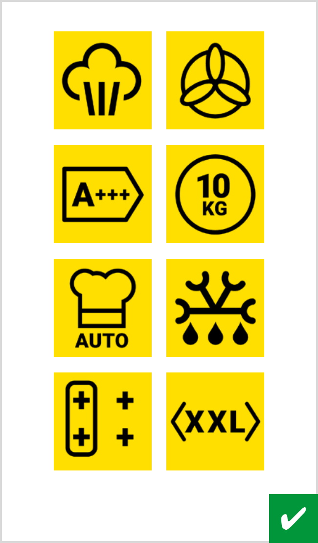 Icons on white background