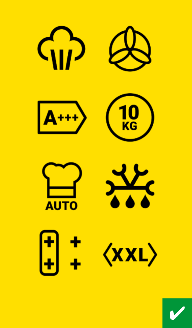 Icons on yellow background