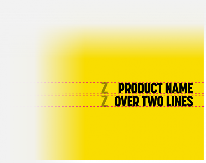 Product name over 2 lines
